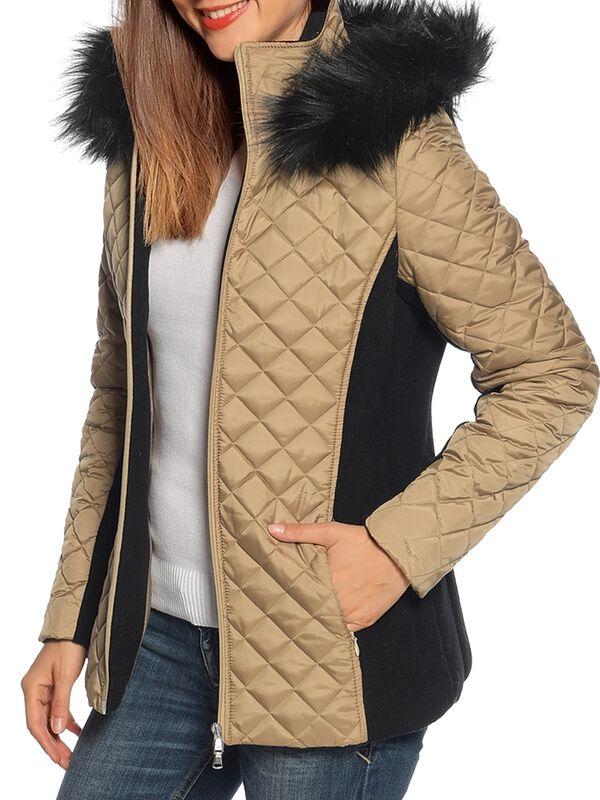 Quilted jacket with cashmere