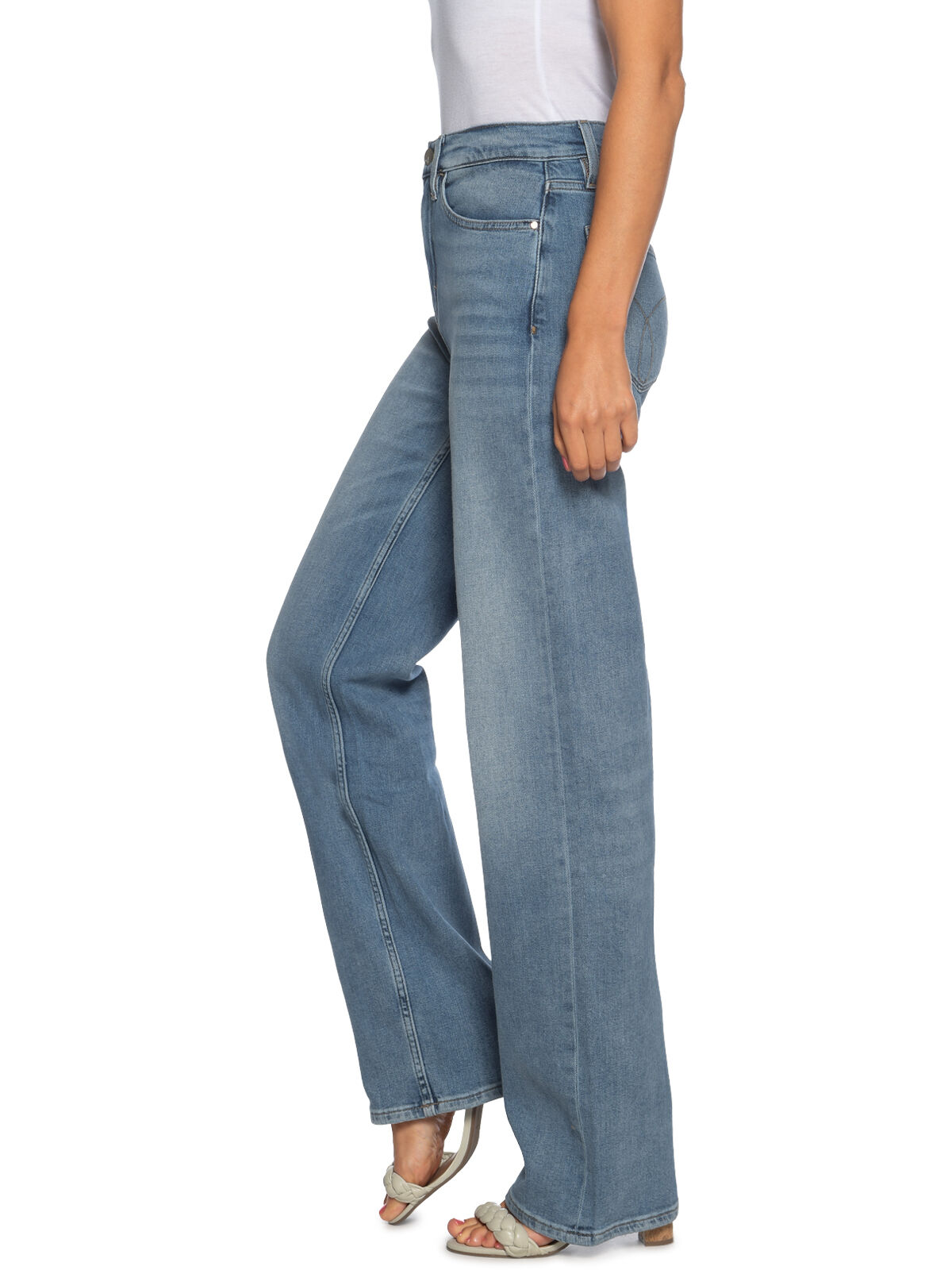 Calvin Klein Wide Leg Blue Icon blau