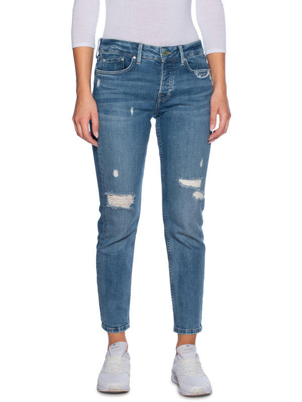 Pepe Jeans Jolie Jeans Destroyed Blau Dress For Less