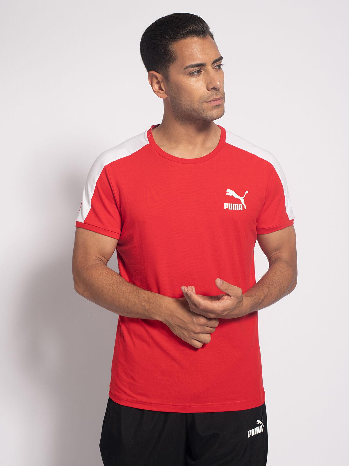 red and white puma shirt