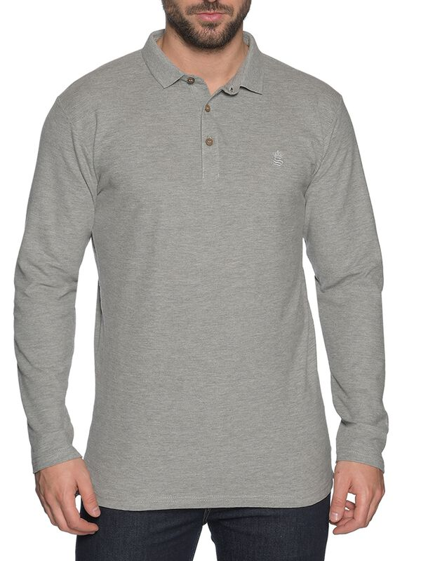 Long-Sleeved Polo