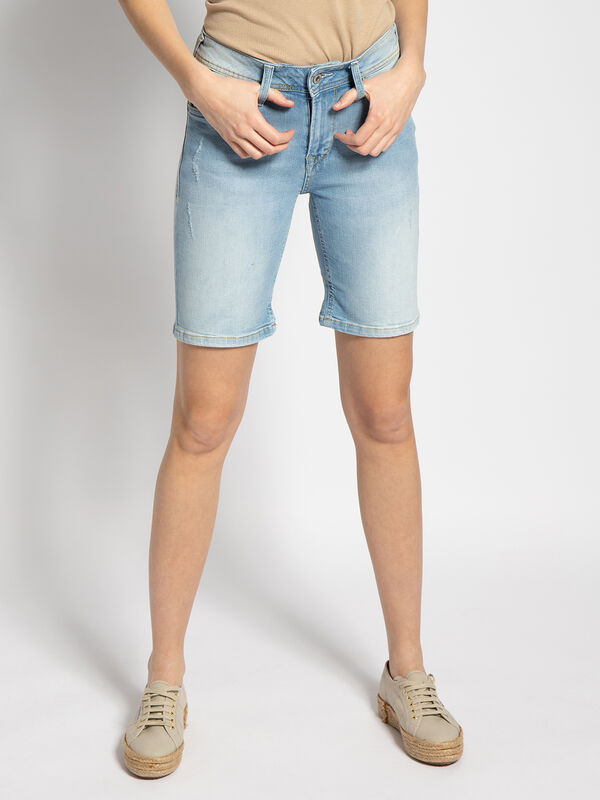 Pepe Jeans Poppy Jeansshorts Blau Dress For Less