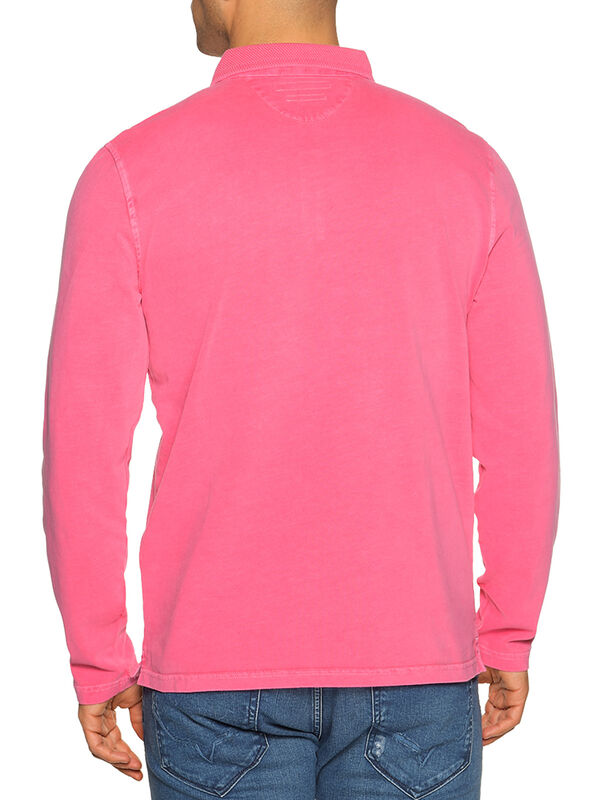 Regular-Fit Long-Sleeved Polo