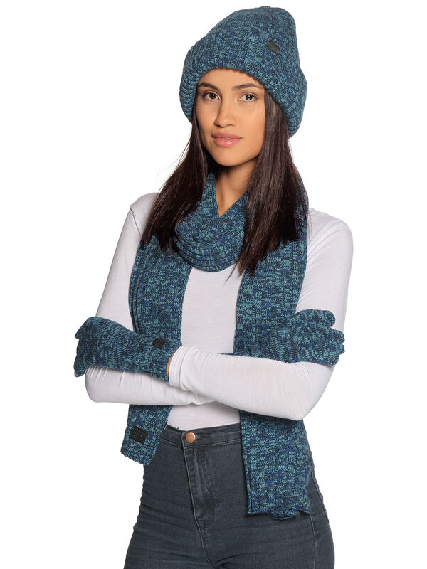 scarf + beanie + gloves
