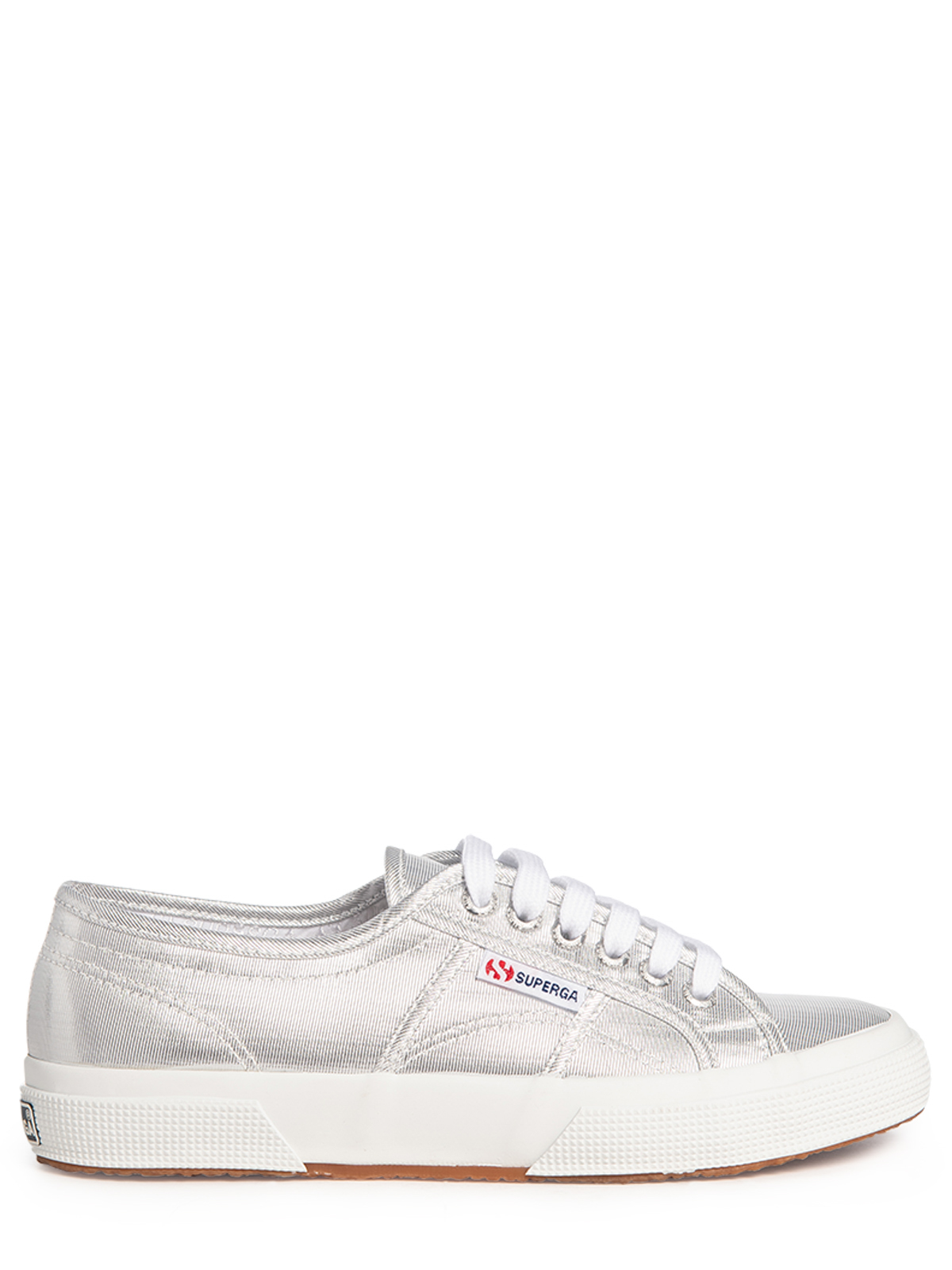 Superga Sneaker Microlamew grau silber